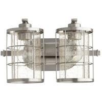 Quorum 5364-2-65 Ellis 2 Light 14 inch Satin Nickel Vanity Light Wall Light