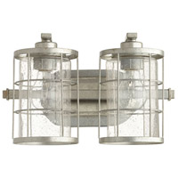 Ellis 2 Light 14 inch Tumbled Steel Vanity Light Wall Light