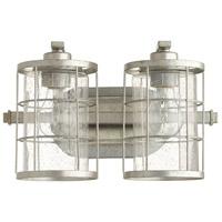 Quorum 5364-2-7 Ellis 2 Light 14 inch Tumbled Steel Vanity Light Wall Light