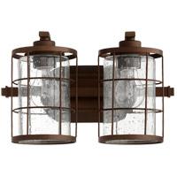 Quorum 5364-2-86 Ellis 2 Light 14 inch Oiled Bronze Vanity Light Wall Light