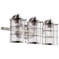Quorum 5364-3-65 Ellis 3 Light 20 inch Satin Nickel Vanity Light Wall Light