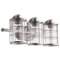 Ellis 3 Light 20 inch Tumbled Steel Vanity Light Wall Light
