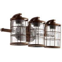 Quorum 5364-3-86 Ellis 3 Light 20 inch Oiled Bronze Vanity Light Wall Light