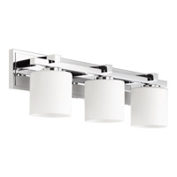 Quorum 5369-3-14 Signature 3 Light 24 inch Chrome Vanity Light Wall Light