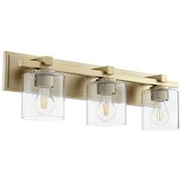 Quorum 5369-3-280 Fort Worth 3 Light 24 inch Aged Brass Vanity Light Wall Light