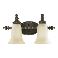 Quorum 5386-2-86 Alameda 2 Light 19 inch Oiled Bronze Vanity Light Wall Light photo thumbnail