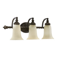 Quorum 5386-3-86 Alameda 3 Light 28 inch Oiled Bronze Vanity Light Wall Light