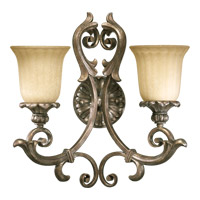 Barcelona 2 Light 17 inch Mystic Silver Wall Sconce Wall Light