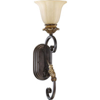 Quorum 5401-1-44 Capella 1 Light 5 inch Toasted Sienna With Golden Fawn Wall Sconce Wall Light