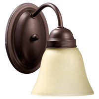 Quorum International Signature 1 Light Wall Sconce in Oiled Bronze 5403-1-86