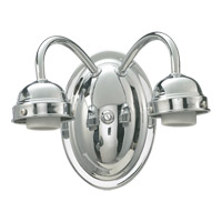 Signature 2 Light 8 inch Chrome Wall Sconce Wall Light in None