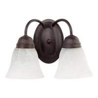 Quorum International Signature 2 Light Wall Sconce in Toasted Sienna 5403-2-44