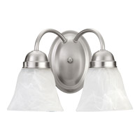Quorum 5403-2-65 Signature 2 Light 11 inch Satin Nickel Wall Sconce Wall Light in Faux Alabaster