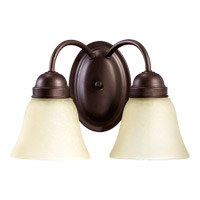 Quorum International Signature 2 Light Wall Sconce in Oiled Bronze 5403-2-86