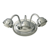 Quorum International Signature 3 Light Wall Sconce in Chrome 5403-3-014