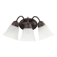 Quorum International Signature 3 Light Wall Sconce in Toasted Sienna 5403-3-44