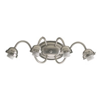 Quorum International Signature 4 Light Wall Sconce in Satin Nickel 5403-4-065