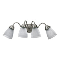 Quorum International Signature 4 Light Wall Sconce in Satin Nickel 5403-4-165