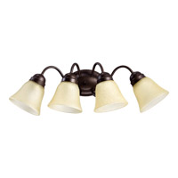 Signature 4 Light 25 inch Oiled Bronze Wall Sconce Wall Light in Amber Scavo