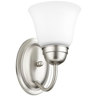 Quorum 5404-1-65 Signature 1 Light 5 inch Satin Nickel Wall Sconce Wall Light