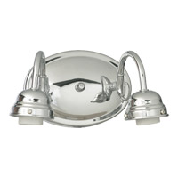 Quorum International Signature 2 Light Wall Sconce in Chrome 5405-2-014