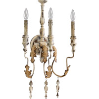 Salento 3 Light 14 inch Persian White Wall Sconce Wall Light