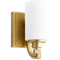 Quorum 5407-1-80 Lancaster 1 Light 5 inch Aged Brass Wall Sconce Wall Light
