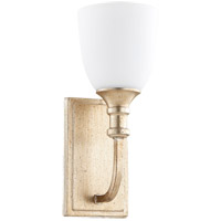 Quorum 5411-1-60 Richmond 1 Light 5 inch Aged Silver Leaf Wall Sconce Wall Light in Satin Opal