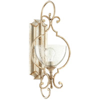 Ansley 1 Light 10 inch Aged Silver Leaf Wall Sconce Wall Light