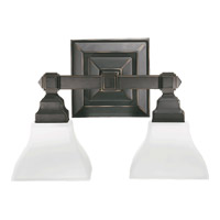 Craftsman 2 Light 15 inch Old World Wall Sconce Wall Light
