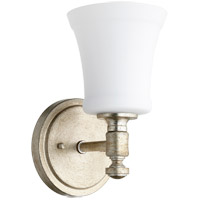 Quorum 5422-1-60 Rossington 1 Light 5 inch Aged Silver Leaf Wall Sconce Wall Light in Satin Opal