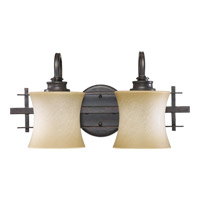 Prairie 2 Light 18 inch Toasted Sienna Wall Sconce Wall Light