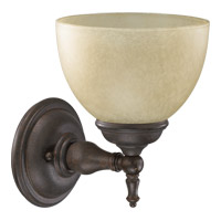 Quorum International Ashton 1 Light Wall Sconce in Toasted Sienna 5435-1-44
