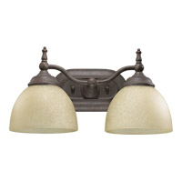 Quorum International Ashton 2 Light Wall Sconce in Toasted Sienna 5435-2-44