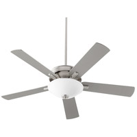 Quorum 54525-65 Premier 52 inch Satin Nickel with Reversible Silver and Walnut Blades Ceiling Fan