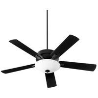 Quorum 54525-69 Premier 52 inch Noir with Reversible Matte Black and Weathered Oak Blades Ceiling Fan, Quorum Home