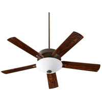 Quorum 54525-86 Premier 52 inch Oiled Bronze with Reversible Walnut and Weathered Oak Blades Ceiling Fan