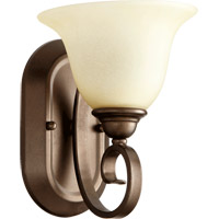 Celesta 1 Light 7 inch Oiled Bronze Wall Sconce Wall Light in Amber Scavo