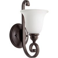 Bryant 1 Light 7 inch Oiled Bronze Wall Mount Wall Light in Satin Opal