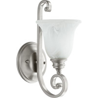 Quorum 5454-1-64 Bryant 1 Light 7 inch Classic Nickel Wall Sconce Wall Light in Faux Alabaster