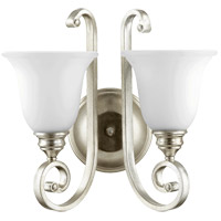 Quorum 5454-2-60 Bryant 15 inch Aged Silver Leaf Wall Mount Wall Light in Satin Opal, Satin Opal