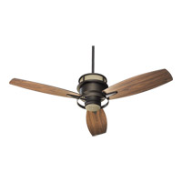 Bristol 54 inch Oiled Bronze with Walnut Blades Ceiling Fan