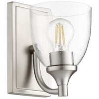 Quorum 5459-1-265 Enclave 1 Light 6 inch Satin Nickel Wall Sconce Wall Light in Clear Seeded