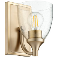 Quorum 5459-1-280 Enclave 1 Light 6 inch Aged Brass Wall Sconce Wall Light