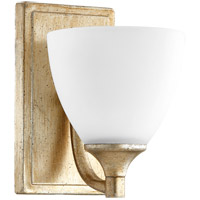 Quorum 5459-1-60 Enclave 1 Light 6 inch Aged Silver Leaf Wall Sconce Wall Light
