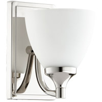Quorum 5459-1-62 Enclave 1 Light 6 inch Polished Nickel Wall Sconce Wall Light