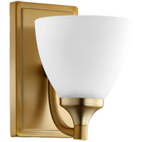 Quorum 5459-1-80 Enclave 1 Light 6 inch Aged Brass Wall Sconce Wall Light