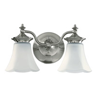 Quorum International Amherst 2 Light Wall Sconce in Satin Nickel 5473-2-65