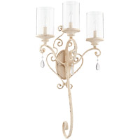 Quorum 5473-3-70 San Miguel 16 inch Persian White Wall Mount Wall Light Clear Seeded