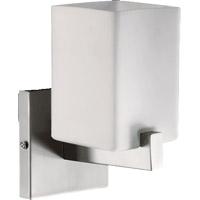 Quorum 5476-1-65 Modus 1 Light 5 inch Satin Nickel Wall Sconce Wall Light in Satin Opal